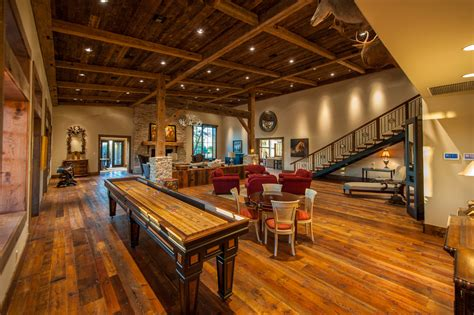 Decorating Homes Games by Innovative Shuffleboard Table In Family Room Rustic With