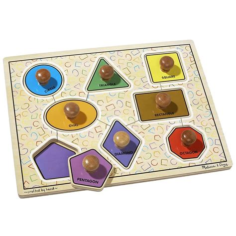 Jumbo Knob Puzzles by Large Shapes Jumbo Knob Puzzle Educational Toys Planet