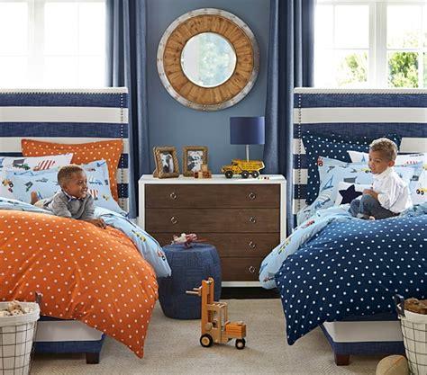 kids bed headboard rowan upholstered bed headboard pottery barn kids