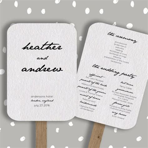 diy wedding program fans template wedding program fan template editable in word diy