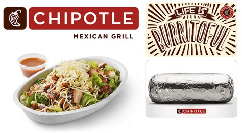 Chipotle Gift Card Deal - chipotle free burrito with purchase of 25 in gift cards bogo burrito bowl salad