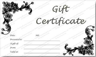 Black And White Gift Certificate Template Free by Black Glades Gift Certificate Template
