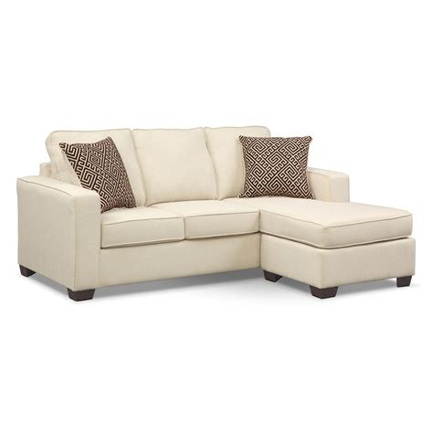 Sleeper Sofa Chaise Lounge Sterling Innerspring Sleeper Sofa With Chaise Beige American Signature Furniture