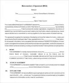 28 memorandum of agreement template free memorandum
