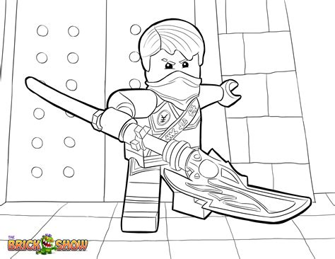 lego ninjago jay tournament of elements coloring page