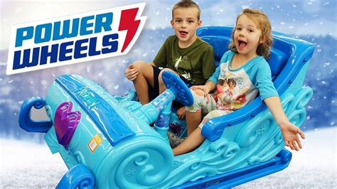 frozen power wheels sleigh power wheels disney princess frozen elsa s car sleigh