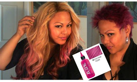 garner black cherry hair color on older women pink hair removing jazzing temp color update youtube