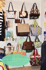 How To Store Purses In Closet by Organizing And Storing Handbags Organize And Decorate