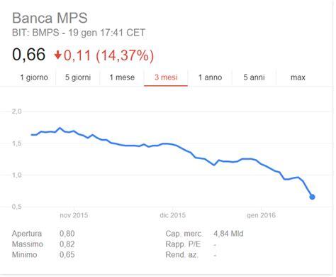 quotazioni azioni mps monte dei paschi di siena e banche italiane arriva la bad