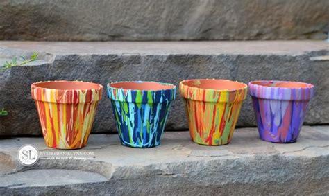 Painting Garden Pots Ideas Interesting Hobby Flower Pot Painting Ideas 40 Exles Hobby Lesson