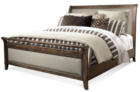 cal king upholstered bed belmeade cal king sleigh upholstered bed by riverside