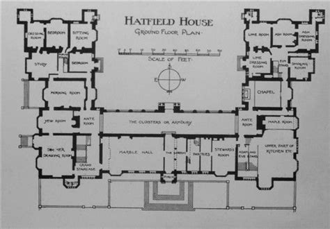hatfield house floor plan 12 best images about historical floorplans on pinterest
