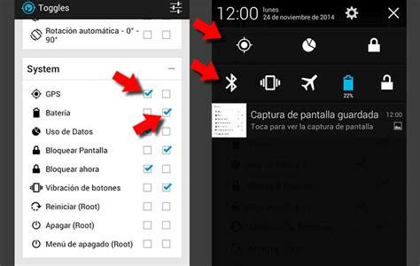 barra superior de android crea accesos directos a las herramientas en la barra de