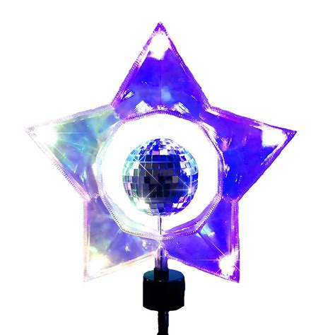 rotating christmas tree topper 5 light rotating mirror tree topper with ul approved adaptor seasonal
