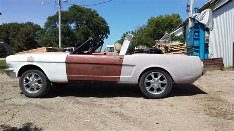 no drivetrain 1965 ford mustang convertible project for sale