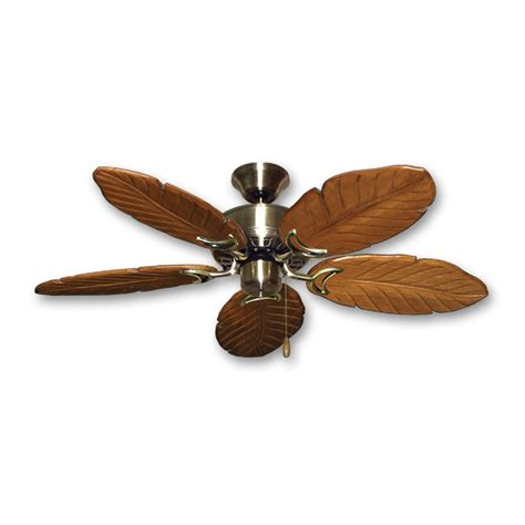 42 Quot Hawaiian Ceiling Fan Antique Brass Finish Treated