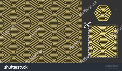 recurrence pattern en français geometric pattern seamless ornament combined hexagonal 스톡