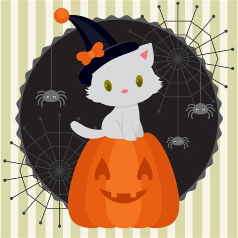 tutorial illustrator halloween how to create a halloween illustration with a white kitten