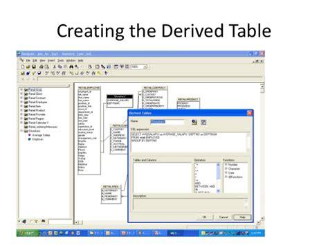 teradata create table as sap bo and teradata best practices