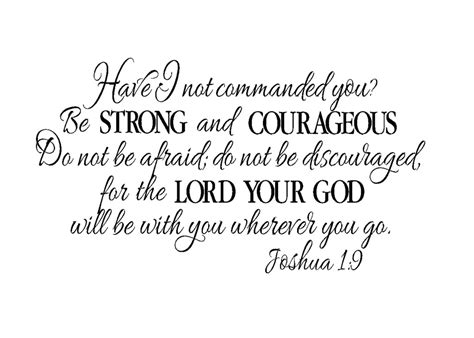 joshua 1 9 be strong and courageous papel de parede