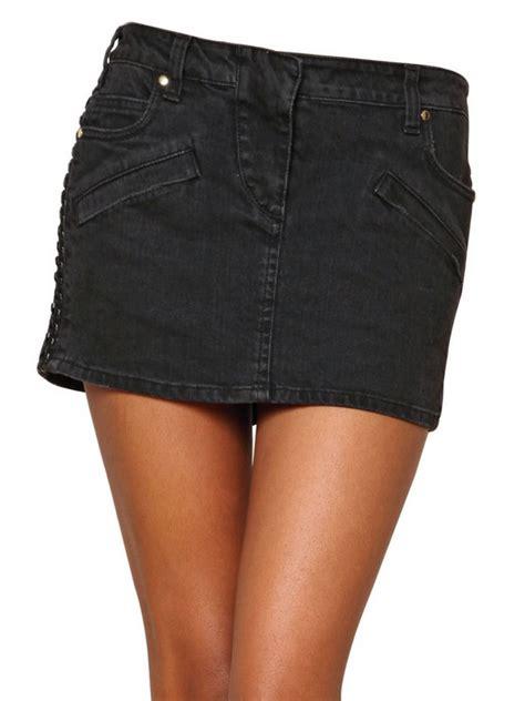 black jean mini skirt dress