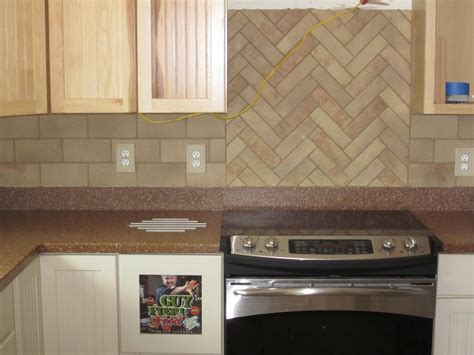 herringbone tile pattern backsplash tile design ideas