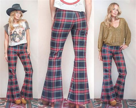 Tartan Ruffle Jumpsuit Size S 18 best images about crc 70s vintage bell bottoms flare