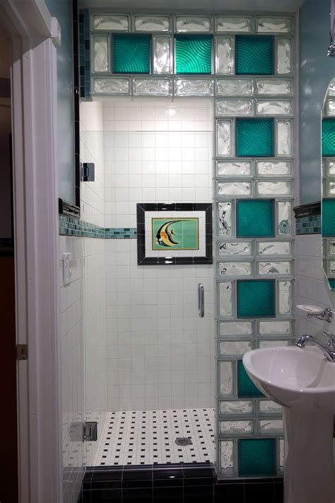glass block bathroom designs california glass tile glass block shower wall
