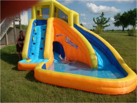 backyard water toys funny backyard inflatable water slide for kids interior design ideas