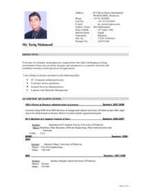Latest Resume Models Cv Format By Naveeddil