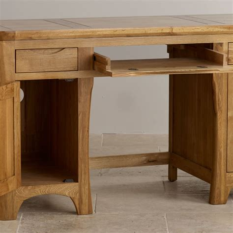 Rustic Oak Computer Desk by Orrick Computer Desk Rustic Solid Oak Oak Furniture Land