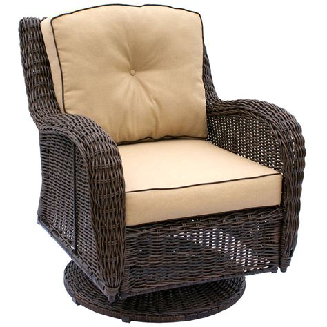 Grand Isle Wicker Swivel Chair Brown At Home Swivel Wicker Chair