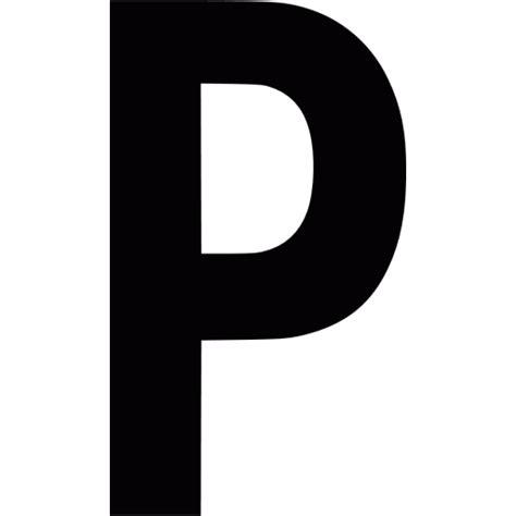 Black letter p icon - Free black letter icons P