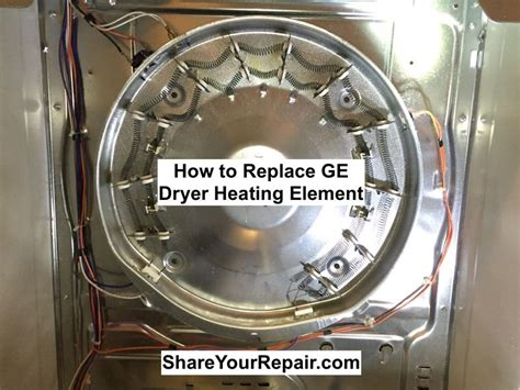 Removing Hair Dryer Heating Element how to replace heating element on ge electric dryer your repair