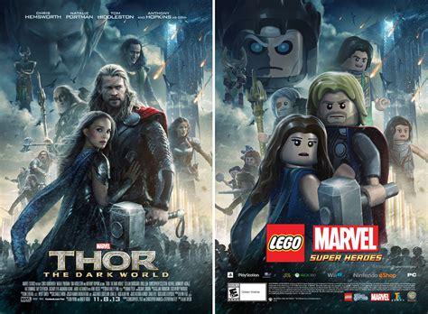 film marvel lego thor the dark world gets lego movie poster treatment