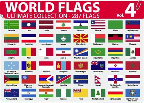 world flag templates various of world flags vector set 06 vector other free