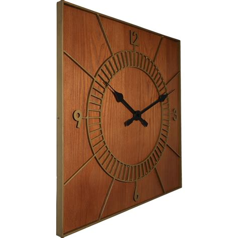 wooden wall clock square wooden wall clock 50cm