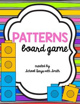 math pattern board games patterns math partner board game by school days with smith