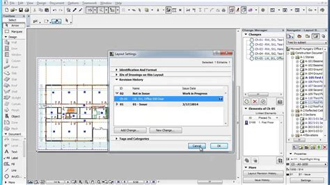 soarian layout manager preferences archicad revision management the layout revision history