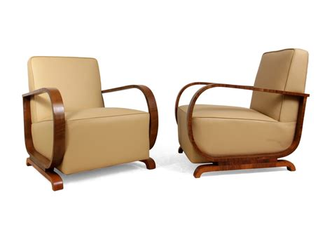 art deco sofa and chairs art deco armchairs in walnut and leather the furniture rooms