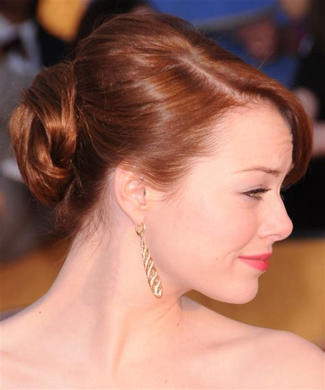 emma stone updo emma stone updo long straight formal updo hairstyle with