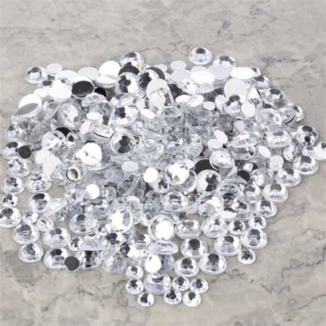 Rhinestone Clear assorted clear flat back rhinestones vase fillers
