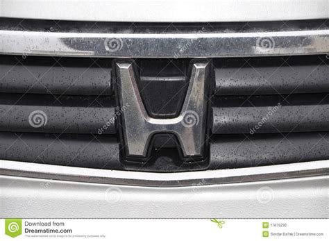 Honda Stock Symbol by Honda Symbol Editorial Image Image Of Front Driver