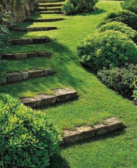 terrasse einfach bauen 3775 treppen mit grass kreative gartengestaltung garten