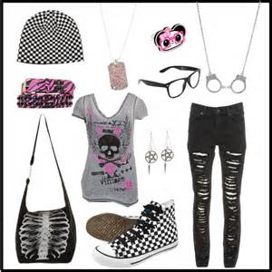 Just a cute random emo outfit i made out of boredom while watching