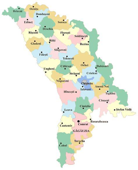 moldova map administrative map of moldova moldova administrative map vidiani maps of all countries