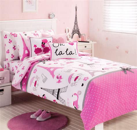 parisian bedding pink paris eiffel tower single twin size quilt cover set