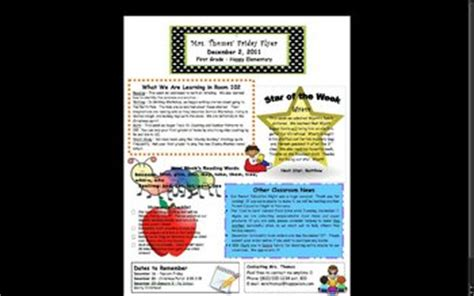 Elementary Classroom Newsletter Template By Stephanie Thomas Tpt Elementary Newsletter Templates