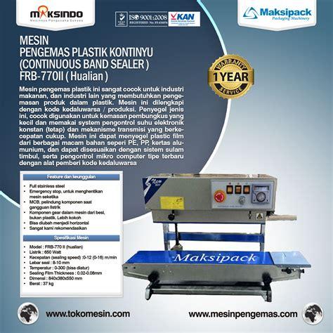 Mesin Countinous Band Sealer Frb 770 Ii jual mesin continuous band sealer di semarang toko mesin maksindo semarang toko mesin