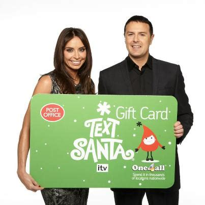 Text Santa Gift Card - text santa gift cards the thumbs up